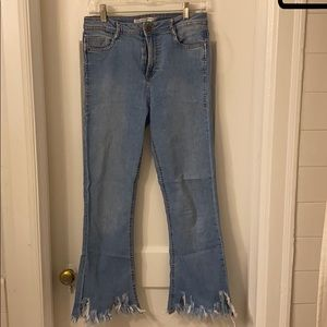 Zara distressed hem denim - USA 6